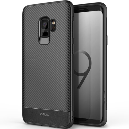 Galaxy S9 Case, OBLIQ [Flex Pro][Carbon Black] Premium Slim Fit Form Fitting Protective TPU Cover for Samsung Galaxy S9