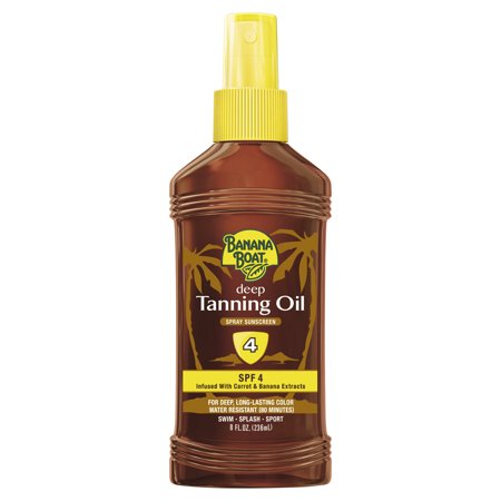 Deep Tanning Dry Oil - Banana Boat Deep Tanning Oil Pump Spray Sunscreen SPF 4 - 8 Ounces
