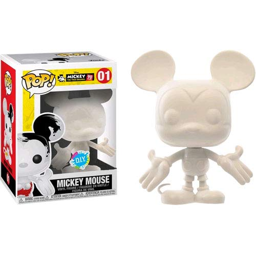 Pop Disney: DIY Mickey Mouse 90th Anniversary Collectible Figure, White