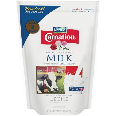 Nestle Carnation Instant Nonfat Dry Milk, 9.6 Ounce Pouch ()