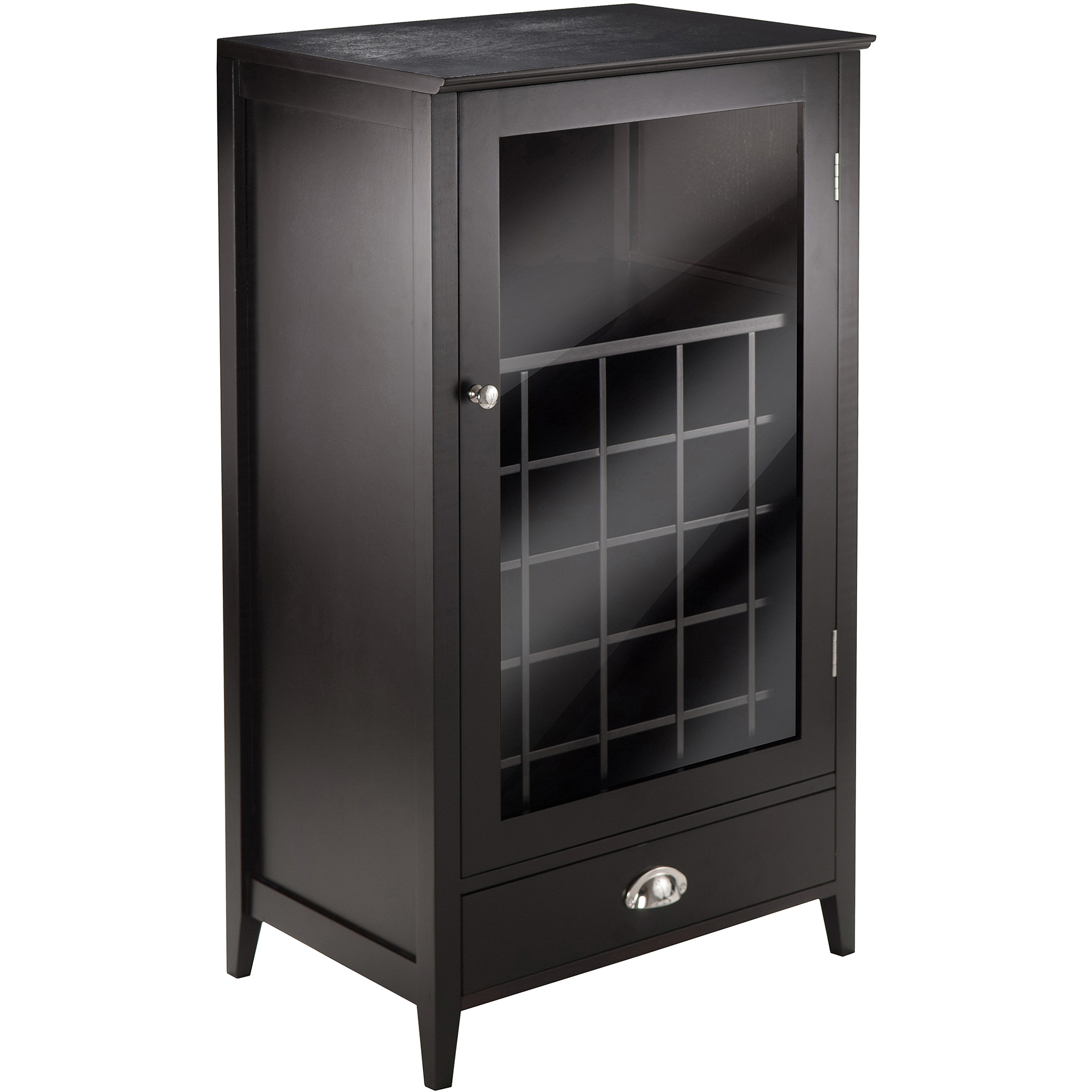 Winsome Wood Bordeaux 25-Bottle Modular Wine Cabinet, Espresso Finish