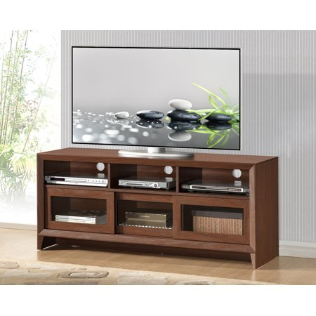 Foto Mobili Tv.Techni Mobili 55 Modern Tv Stand For Tvs Up To 65 With Storage Hickory Rta 8811 Hky