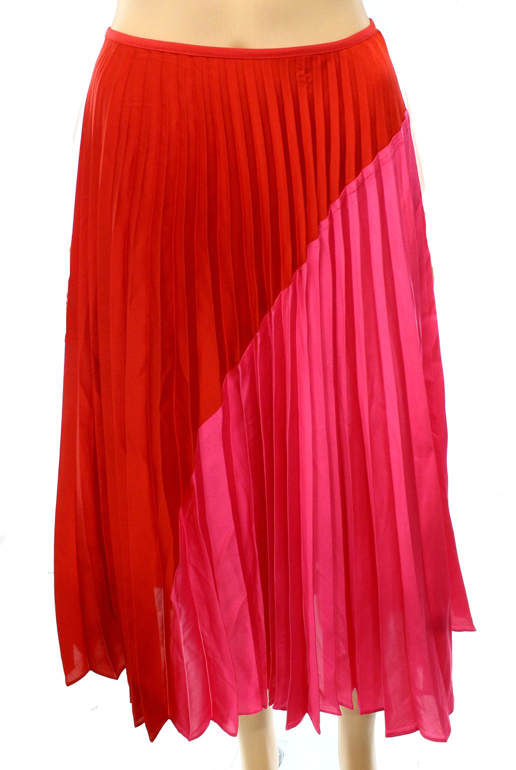 42aab877e7 Theory - Theory NEW Red Pink Women's Size Large L Colorblock Pleated Skirt  - Walmart.com