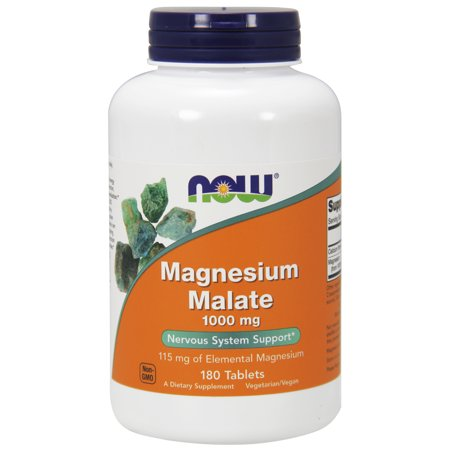 NOW Supplements, Magnesium Malate 1000 mg, 180
