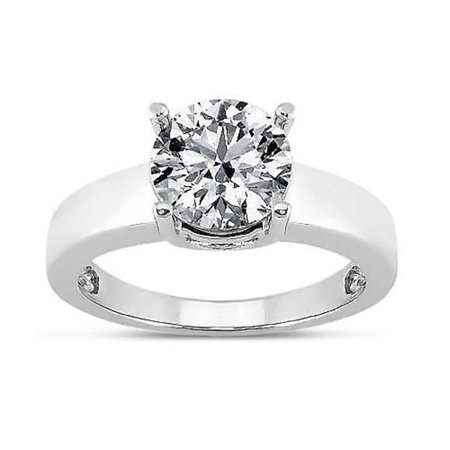 Harry Chad HC10853-6 1.00 CT Round Brilliant Diamond Prong Setting Solitaire Ring, White Gold 14K G White - SI Eyeclean Clarity Brilliant Diamond Setting 4 Prong