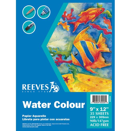 Reeves Water Colour Paper Pad, 35 Sheets, 90 lb