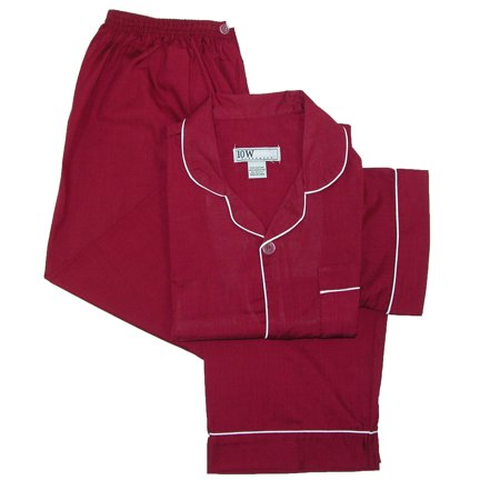 Ten West Apparel  Men's Short Sleeve Long Leg Solid Pajama Set (Brown Mens Pajamas)