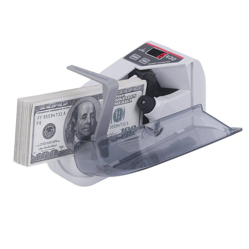 Money Counter V30 Mini Portable Practical Handy Money Counter For Most Currency Bill Cash