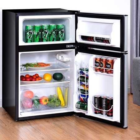 Costway Refrigerator Small Freezer Cooler Fridge Compact 3.2 cu ft. Unit - image 3 of 10