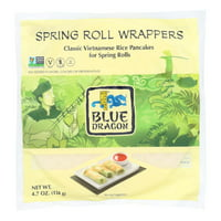 (12 Pack) Blue Dragon Spring Roll Wrappers, 4.7 Oz