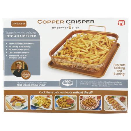 Copper Chef 2 Piece Copper Crisper Oven Air Fryer Pan