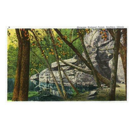 Shawnee National Forest, Illinois, Scenic View in Southern Illinois Print Wall Art By Lantern Press