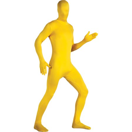 Adult 2nd Skin Yellow Body Suit Medium