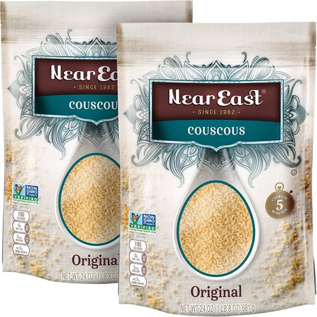 Near East Couscous, Original, Non-GMO Project Verified, 24 Ounce Resealable Bags (Pack of 2) ()