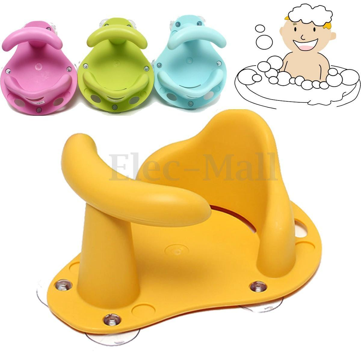 Baby Bath Seat Baby Bath Tub Ring Seat Infant Child Toddler Kids Anti Slip Safety Chair For 6 Month, Blue