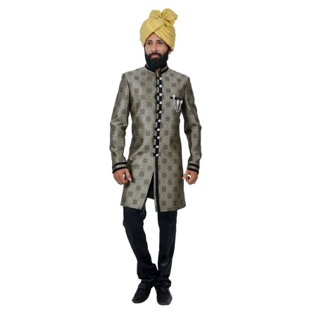 Multi Art Brocade Silk Traditional Indian Wedding Indo-Western Sherwani for Men. This product is custom made to order. - image 6 de 6