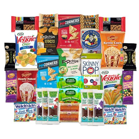 Gluten Free Snacks Care Package for College Students, Military, Office Snacks, Christmas By SnackBOX | Snack BOX - Dip For Crackers
