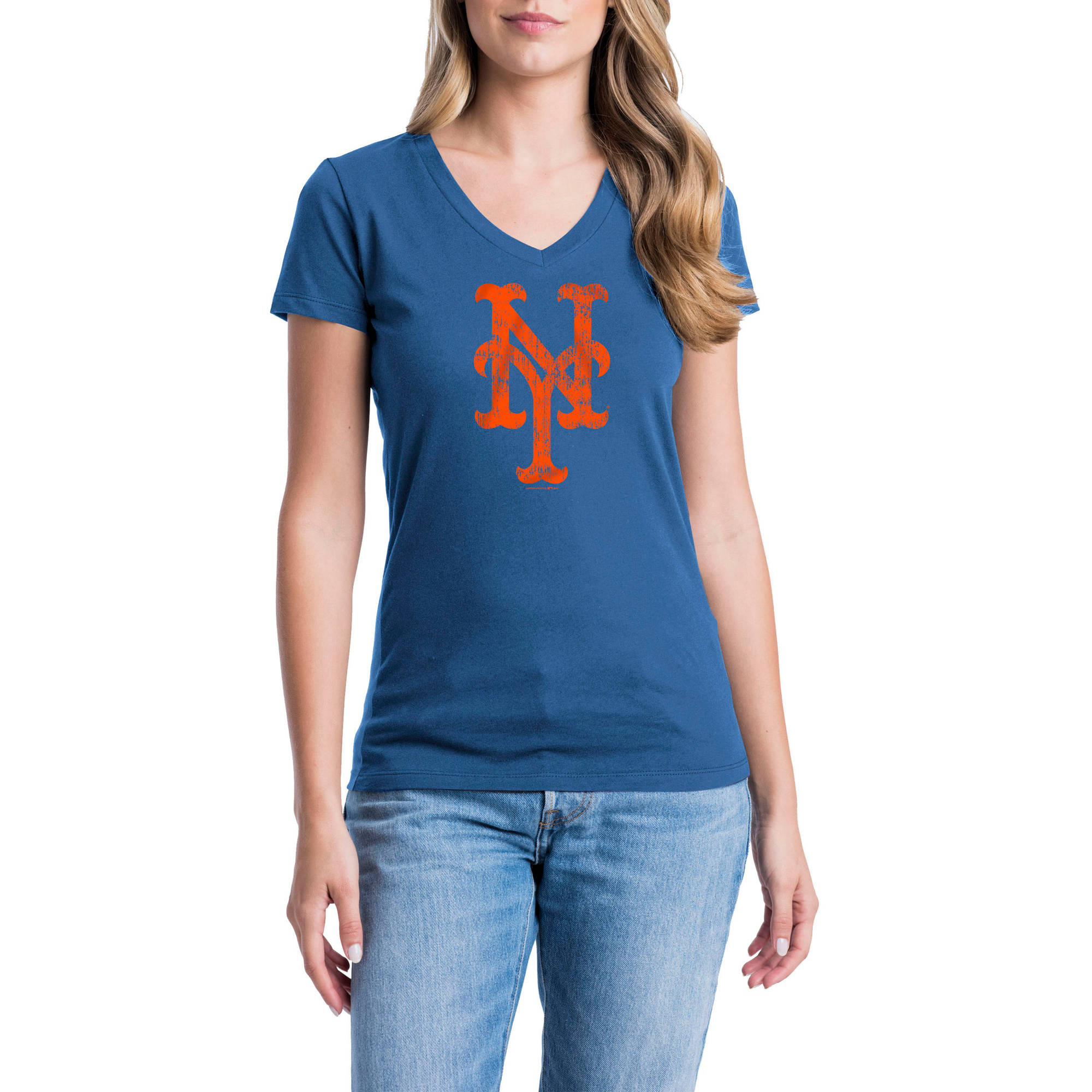 New York Mets Womens Short Sleeve Graphic Tee