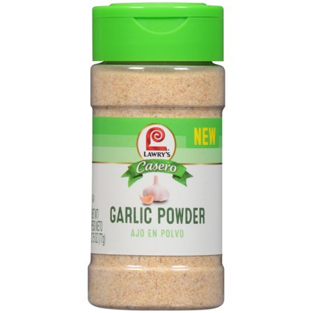 (3 Pack) Lawry's Casero Garlic Powder, 2.75 oz - Garlic Edamame Recipe