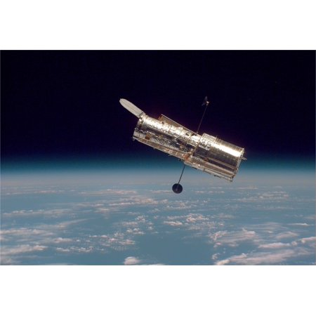 Hubble Space Telescope in Orbit Hi Gloss Space Poster Fine Art