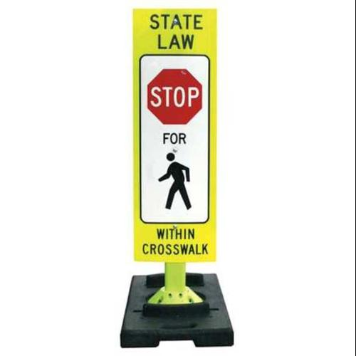 "Flourescent Green Sign and Base, Davidson, 8FG342FLGEFXSFP-BB20""W"