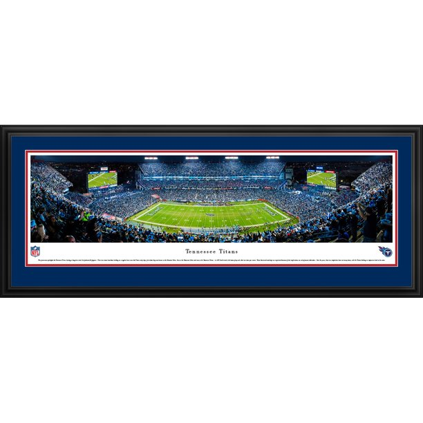 "Panoramic Picture Frames Walmart: Tennessee Titans 18"" X 44"" Deluxe Frame Panoramic Photo"