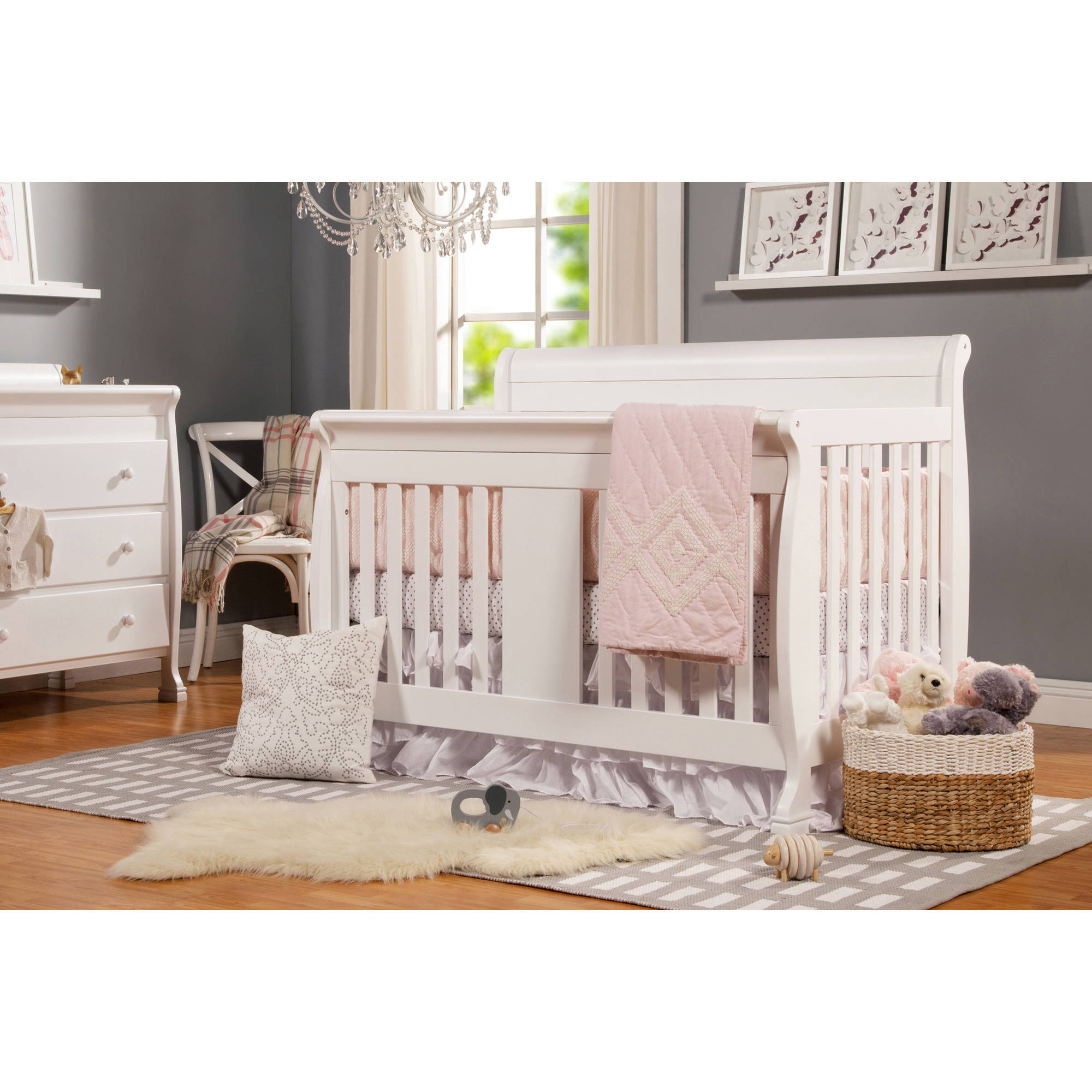 DaVinci Porter 4-in-1 Convertible Fixed-Side Crib with Toddler Bed Conversion Kit (Choose Your Color)