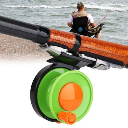TOPINCN Portable Mini Plastic Single Handle Fly Casting Spinning Reel Fishing Tackle Accessory, Fishing Plastic Reel,Fihsing Reel