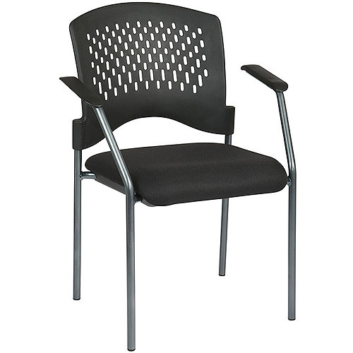 Office Star Pro Line II Visitor Chair with Arms, Titanium