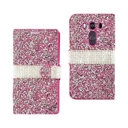 Jewelry Wallet - Lg V10 Jewelry Rhinestone Wallet Case In Pink