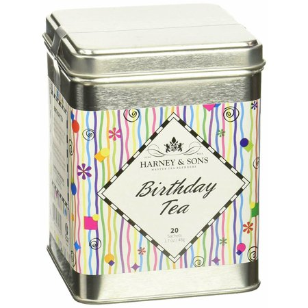 Harney Sons Decaffeinated Birthday Black Tea With Fruit And Berries Tin 20... Harney & Sons Decaffeinated Tea