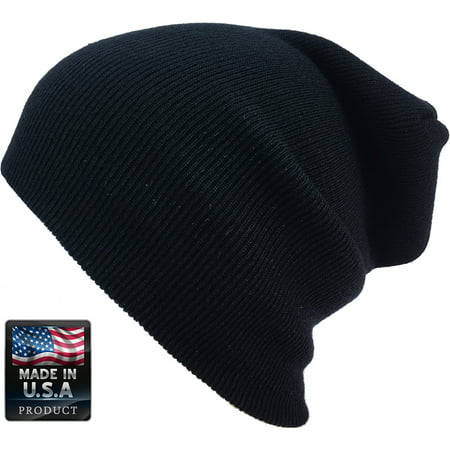 Plain Skully High Quality Made in USA Winter Beanie - Yellow Derby Hat