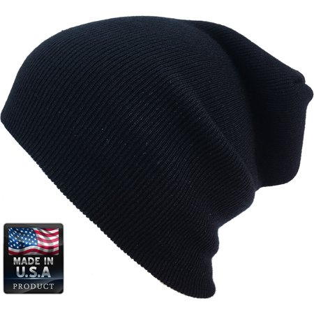 Plain Skully High Quality Made in USA Winter Beanie Hat - Red White And Blue Cowboy Hat