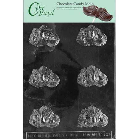 Cybrtrayd H069 Halloween Chocolate Candy Mold, Pour Ghost