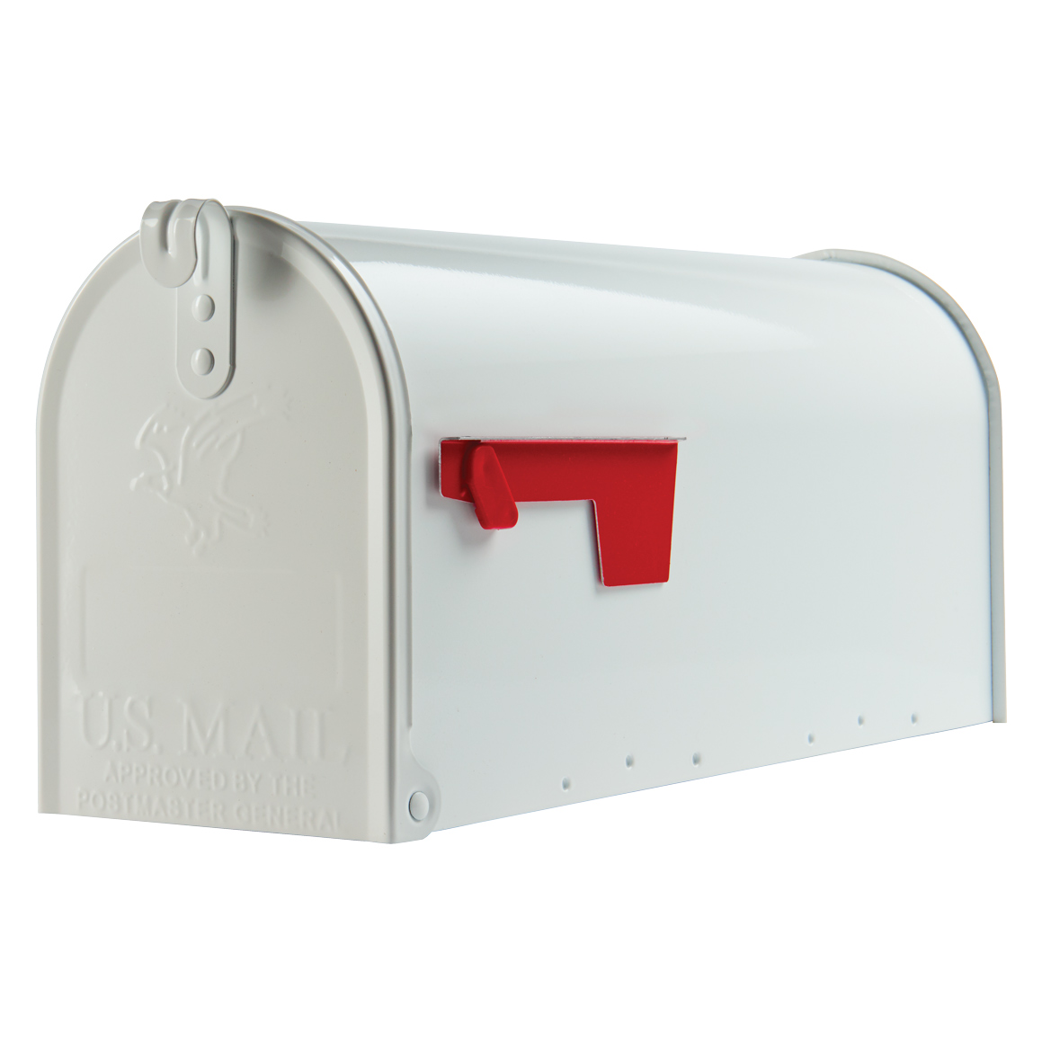 Gibraltar Elite Medium, Galvanized Steel, White Post Mount Mailbox by Solar Group, Inc.