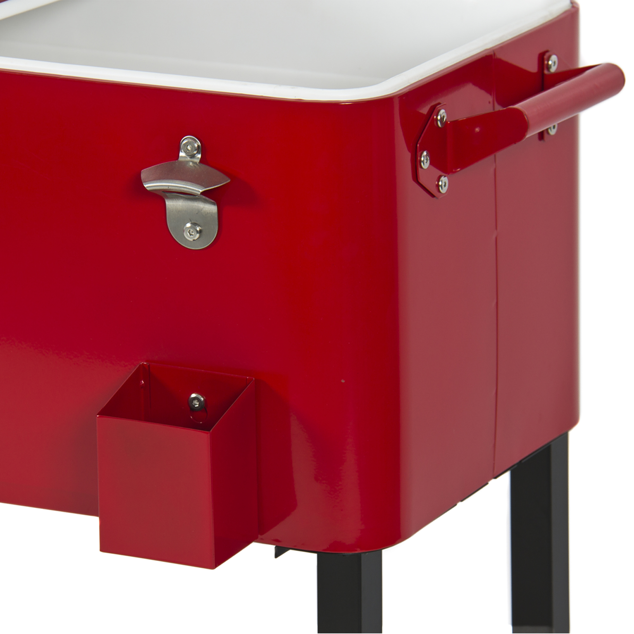 Awesome Patio Deck Cooler Rolling Outdoor 80 Quart Solid Steel Construction Home  Party   Walmart.com