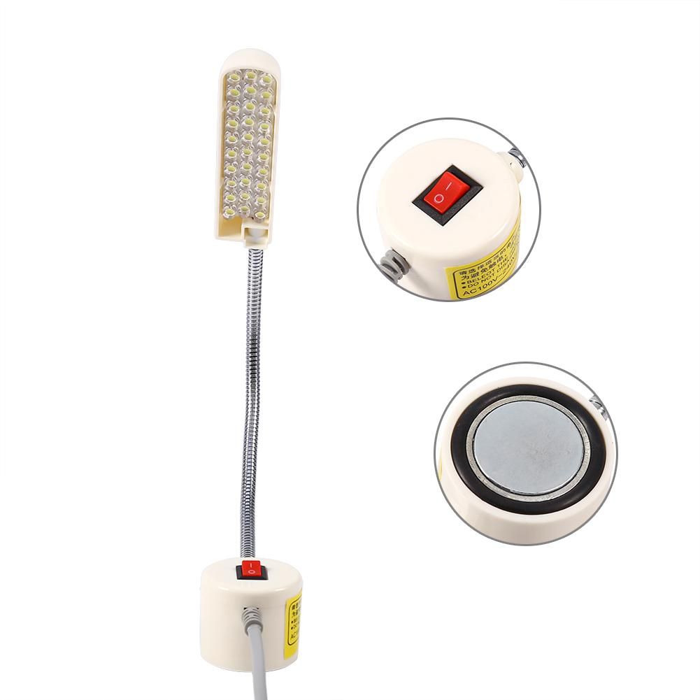 Sewing Machine Working Light 1Pc AC 110V-240V 30 LED Light Lamp Magnetic Base Switch for Sewing Machine Working Light