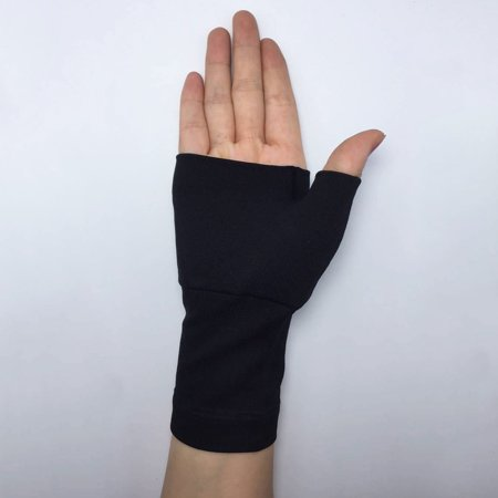 Arthritis Hand Therapy (1 Pair Carpal Tunnel Hand Palm Thumb Wrist Brace Support Arthritis Compression Bandage Gloves Elastic Brace Sleeve Sports Bandage Wrap Pain Relief Promote Circulation Therapy Gloves  Black)