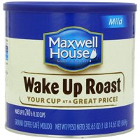 6 PACKS : Maxwell House Ground Coffee Canister, Wake Up Roast, 30.65 Ounce