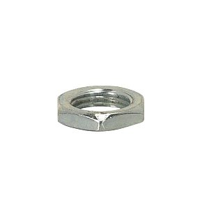 Satco Steel Locknut 1/8 IP 9/16in hex 1/8in thick