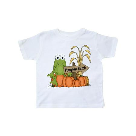 Frog at a Pumpkin Patch Toddler T-Shirt