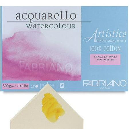 12x18 80 Lb Text (Fabriano Artistico 140 lb. Hot Press 20 Sheet Block 12x18