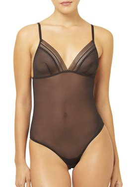 French Connection Sheer Mesh Bodysuit