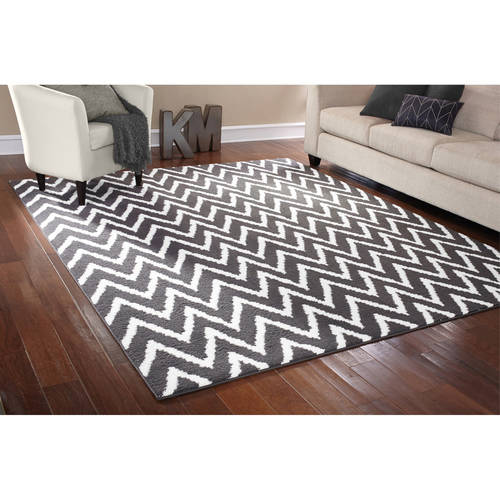 Marvelous Mainstays Distressed Zig Zag Area Rug