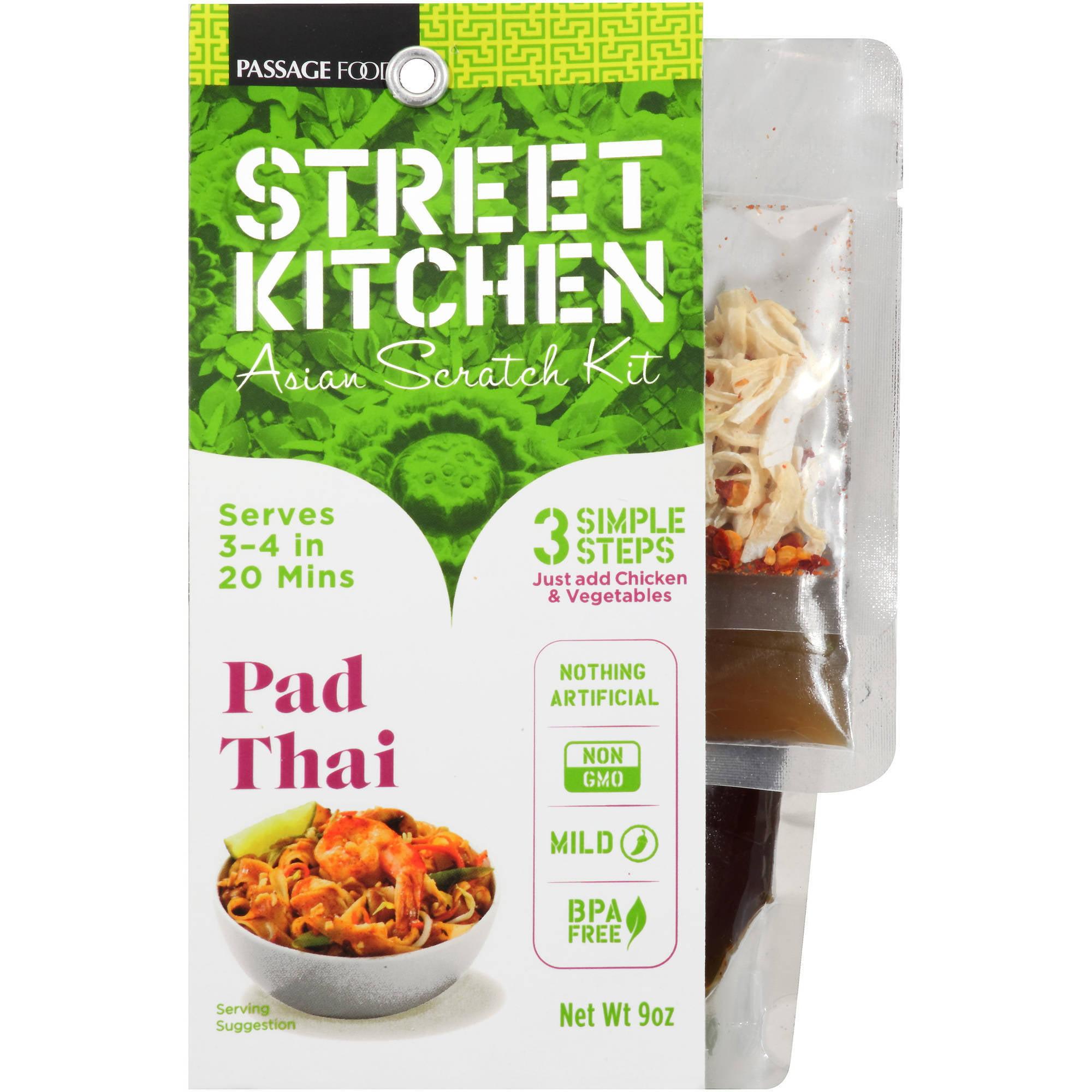 street kitchen pad thai asian scratch kit, 9 oz - walmart