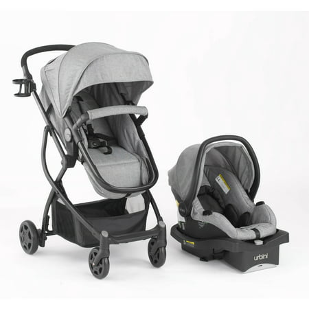 Urbini Omni Plus 3 in 1 Travel System, Special (Double Stroller For Newborn And 2 Year Old)