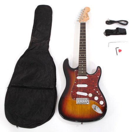 glarry basswood beginner electric guitar w bag pick strap accessories. Black Bedroom Furniture Sets. Home Design Ideas