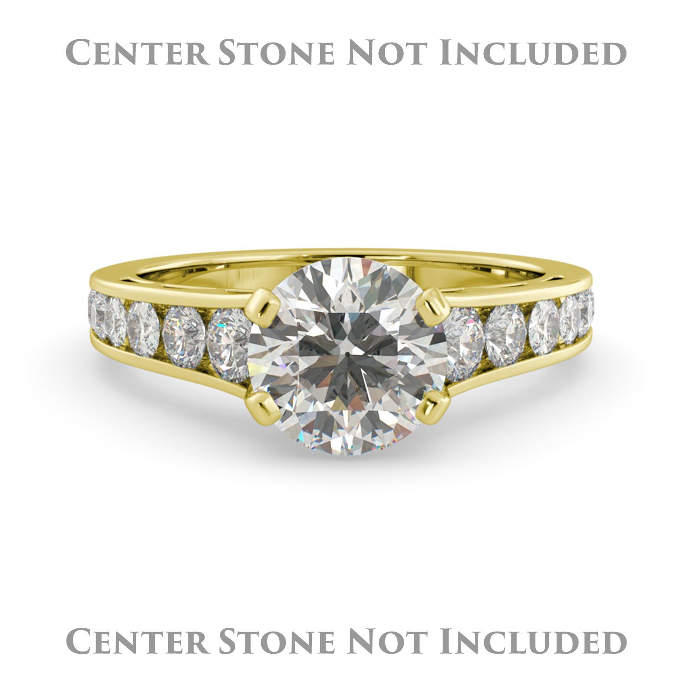 J&H Round Graduated Semi Mount Diamond Pave Engagement Ri...
