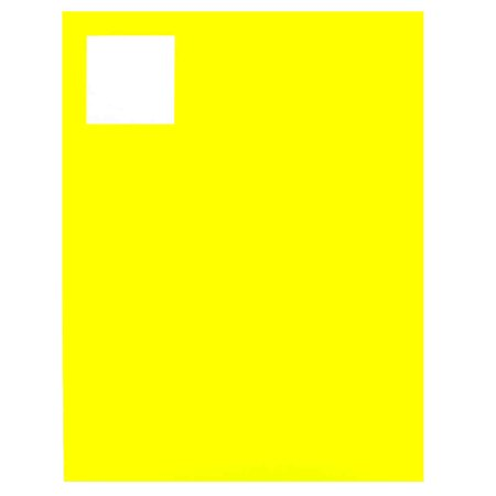 JAM Product & Container Labels, Square, 2 x 2, Neon Yellow, 120/Pack - image 3 de 4