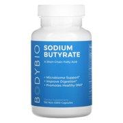 BodyBio, Sodium Butyrate, 100 Non-GMO Capsules